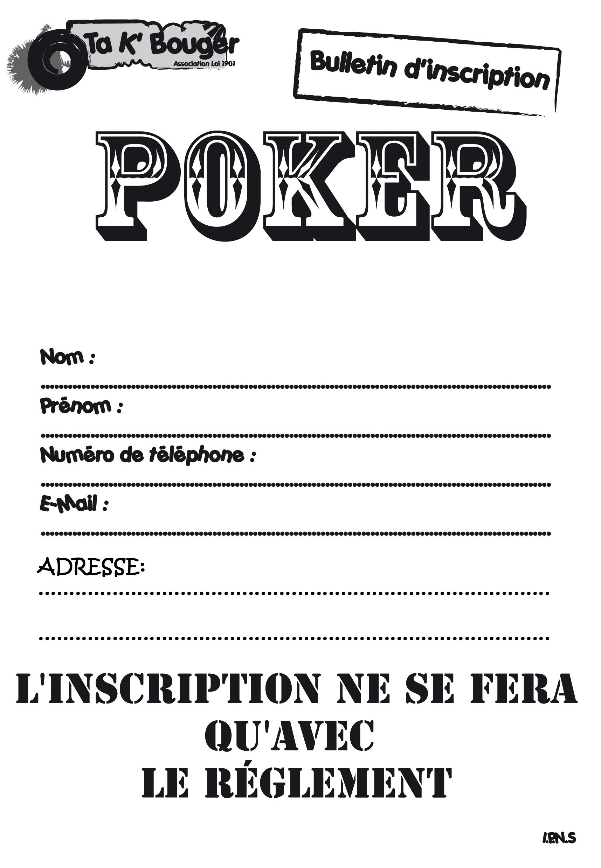 K poker inscription